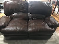 Black leather 2-seat recliner sofa and recliner Arlington, 22206