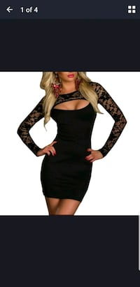 women's black and red long sleeve dress Orland Park, 60467
