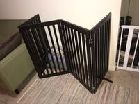 Freestanding dark brown wood pet/ child gate Bowie, 20715
