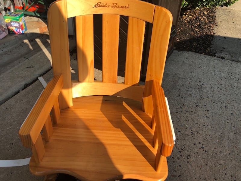 Eddie Bauer chair top high chair with custom made chair pad/cover 12855f07-ac52-41a0-ab8f-fab0fecf3c8d