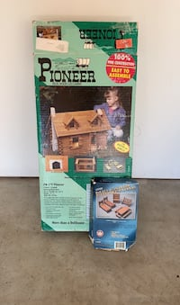 PIONEER Real Log Wood Cabin and furniture building set Park City, 84098
