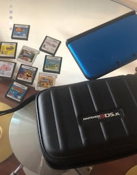Blue nintendo 3ds XL with 11 games including Mario Kart 7 and Mario Bros 2 New York, 11102