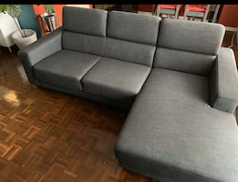 *FREE DELIVERY TODAY ONLY*-  MODERN GREY SECTIONAL COUCH - GREAT COND