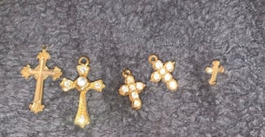 Crosses with clear stones