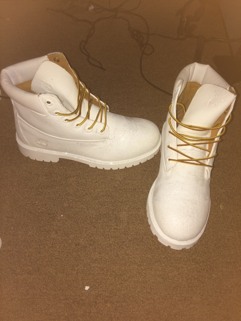 letgo pair of white suede tim in heights ia