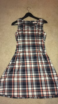 black, white, and gray plaid sleeveless dress Rockville, 20852