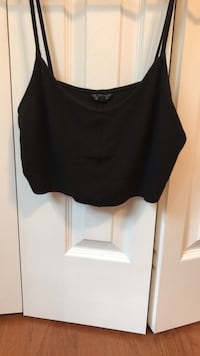 top shop black crop top (size 10) Fairfax, 22032