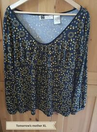 women's dark blue and yellow Mother brand blouse 652 km