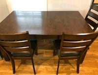 Dark Brown Dining Table And 4 Chairs  Gaithersburg