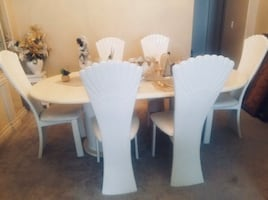 White Dining Set and China Cabinet