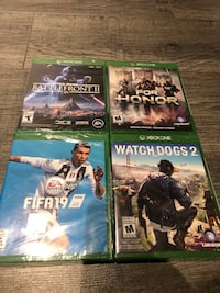 Xbox one games new sealed in box