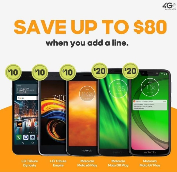 Boost Mobile Moto/LG AAL Promotion