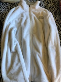 White fuzzy North Face Jacket  Sunnyvale, 94086