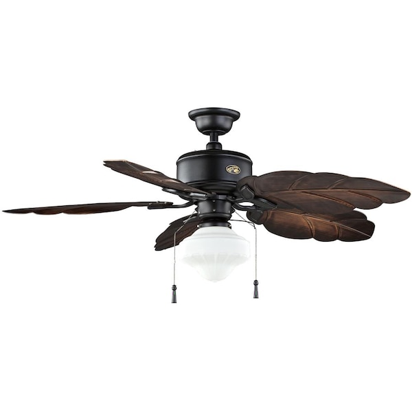 Used Hampton Bay Nau 52 In Led Indoor Outdoor Gilded Iron Ceiling Fan With Light Kit For Dallas Letgo