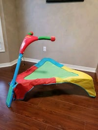 Kids trampoline with signs and sounds