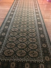 New Persian Bokhara design Hallway Runner Carpet Size 3x10 nice green