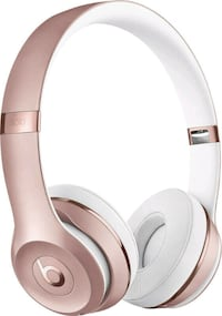 Rose gold beats by dre headphones