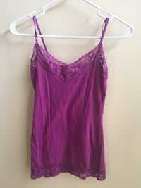 Women's Purple Camisole (Charlotte Russe, Size M) Chantilly, 20152