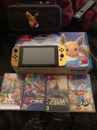 Pokémon let's go eevee Nintendo switch with games and more  Fullerton, 92833