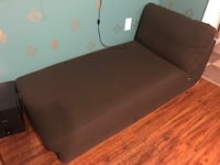 Ikea brown canvas chaise lounge sofa like new condition