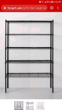 5 Tier Wide Wire Shelf