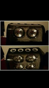 """Two 12""""dual 2-way subwoofers 1200+w"""
