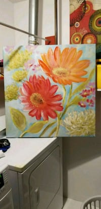yellow and red flowers painting 12 km