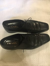 Prada men's leather dress shoes 544 km