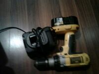 black and yellow DeWalt cordless power drill Edmonton, T5H 1L8
