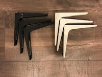 Three black and three white wall mount rack brackets Irvine, 92618