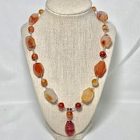 Genuine Sterling Silver Carnelian Bead Necklace Ashburn, 20147