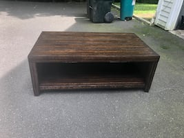 Rustic Dark Chestnut Coffee Table & End Table