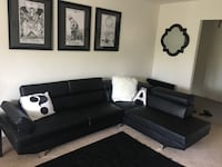 Black Sectional sofa Reston, 20190