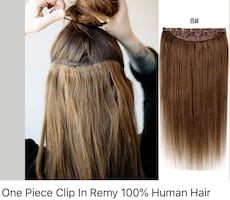 Human hair one piece clip on