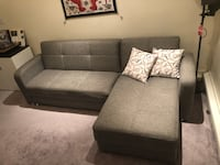 Grey sofa bed with storage space Boston, 02115