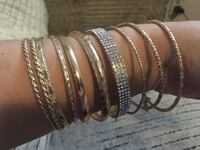 10 gold plated bracelets jewelry