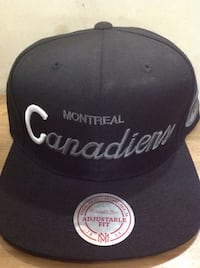 black montreal canadiens snap back cap