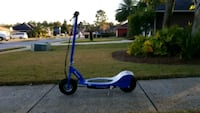 blue and gray Razor electric scooter