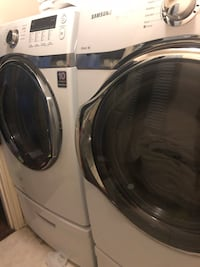 White front-load clothes washer and dryer set Midlothian, 76065