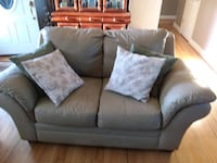 Light Tan leather 3-seat sofa and 2- seat loveseat Springfield, 22150