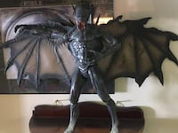 Vintage Flying Demon Figure St Peters