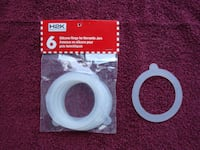 6 Silicon Rings for Hermetic Jars East Gwillimbury