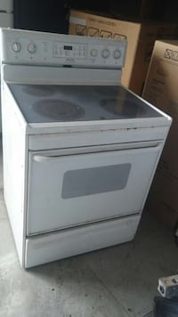 white and gray induction stove range Miami, 33162