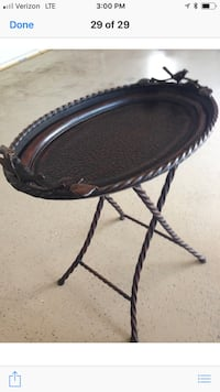 Black brown bird table  Milton, 30004