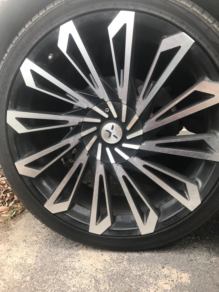 Letgo Silver And Black Auto Rim In Toledo Oh