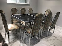Black metal framed glass top table with chairs Toronto, M1G