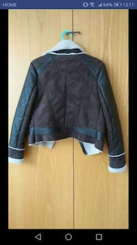 black leather zip-up jacket Toronto, M5J 2T5