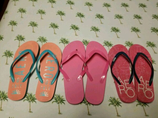 774e283bf Used two pairs of pink and blue flip flops for sale in Bridgeport ...