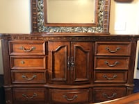 5 piece bedroom set including king size mattress. Real cherry wood. Good condition. Selling due to moving Fairfax, 22030
