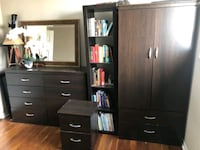 Low and tall dresser plus nightstand. Newmarket